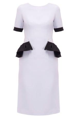 Iris Dress (Yellow, Black, Blue & White) - Melissa Bui