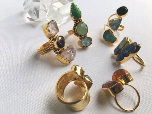 Image of MANDJANI • Crystal Rings