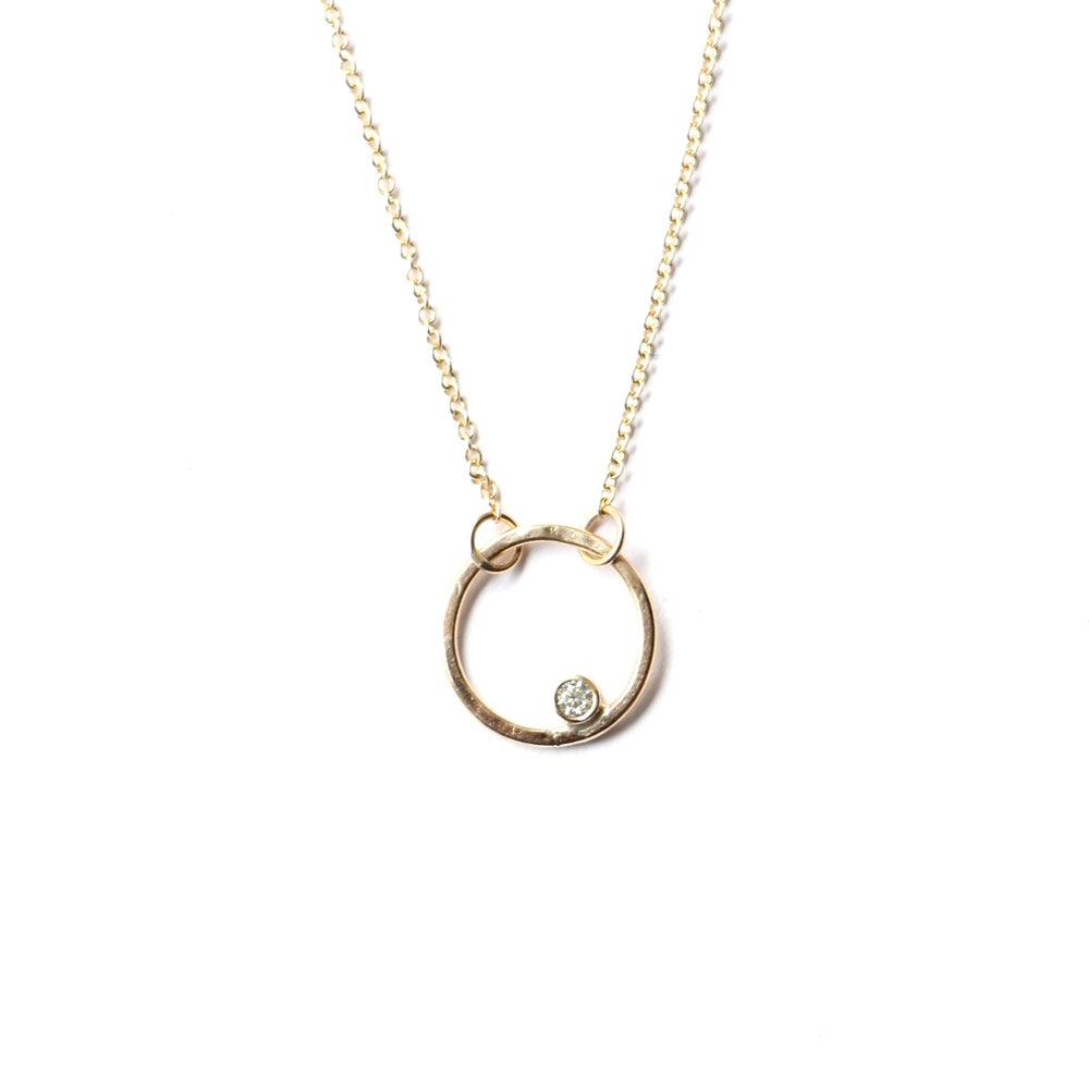 Image of Alae Necklace with Moissanite