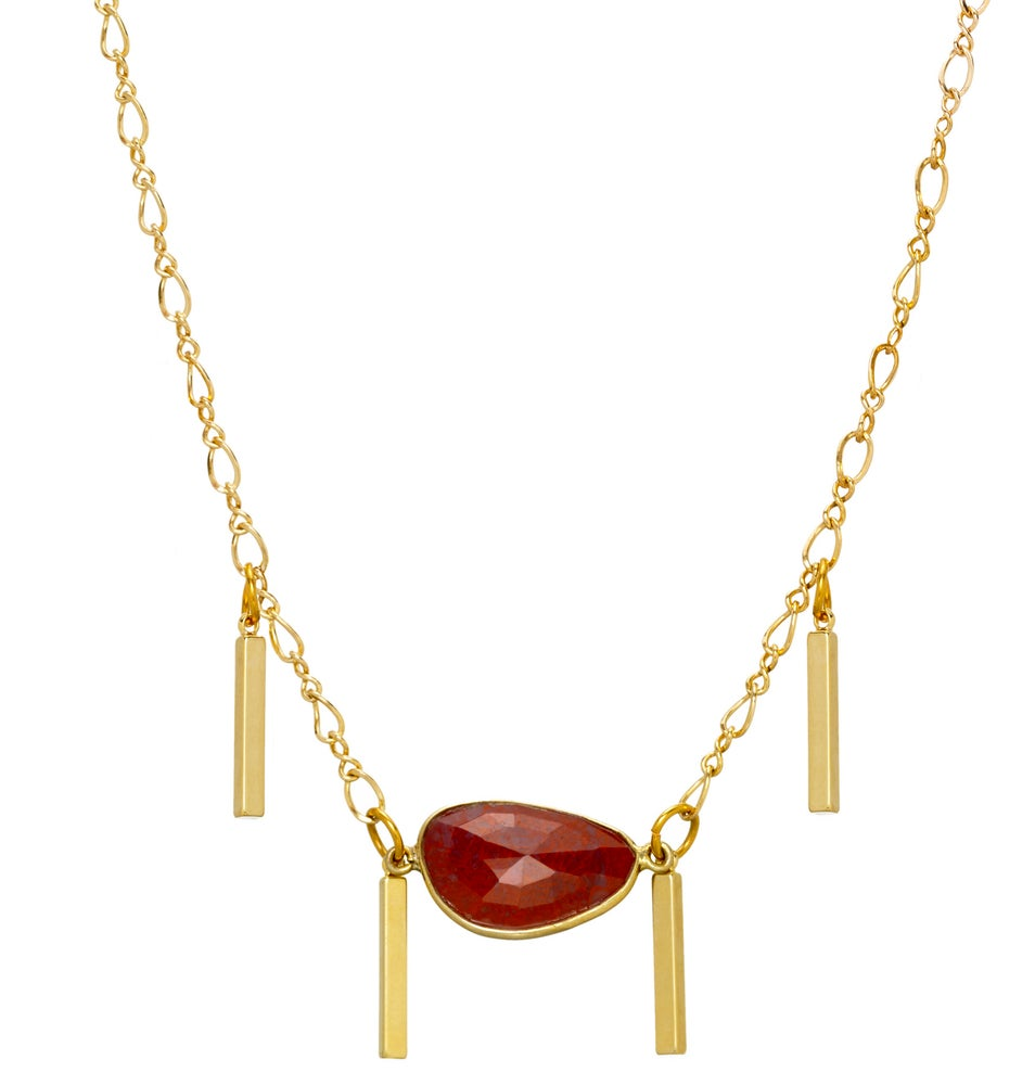 Image of RED JASPER CHOKER NECKLACE