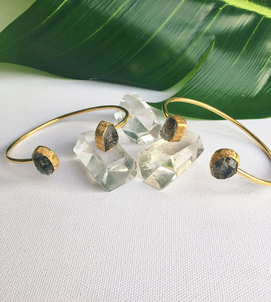 Image of Herkimer Bangles • Herkimer Diamond Bangle Bracelet