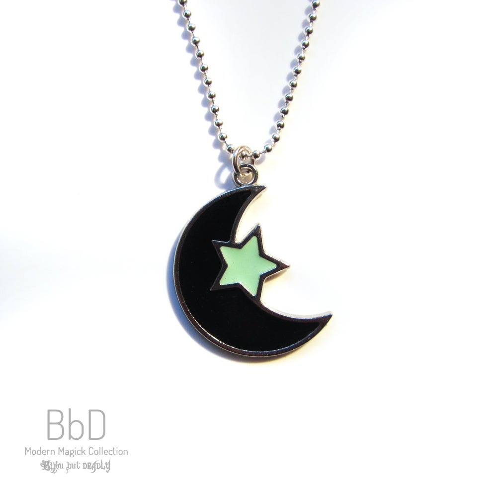 Image of Moon and Star Pendant