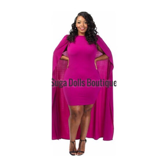 Image of Grace Cape Midi Dress - Curvy