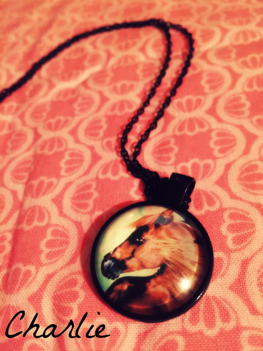 Image of Handcrafted Horse Art Pendant Necklace
