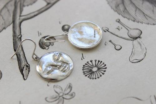 Image of full moon earrings