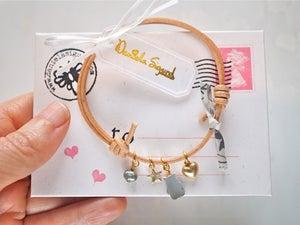 Image of Mama bear bracelet ,mother of pearl charm bracelet