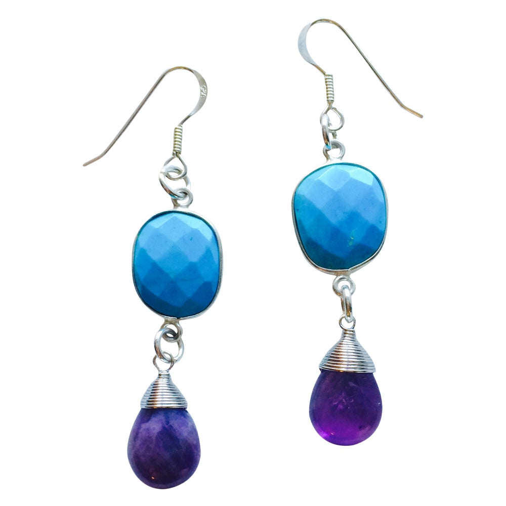 Image of TWO GEMS EARRINGS