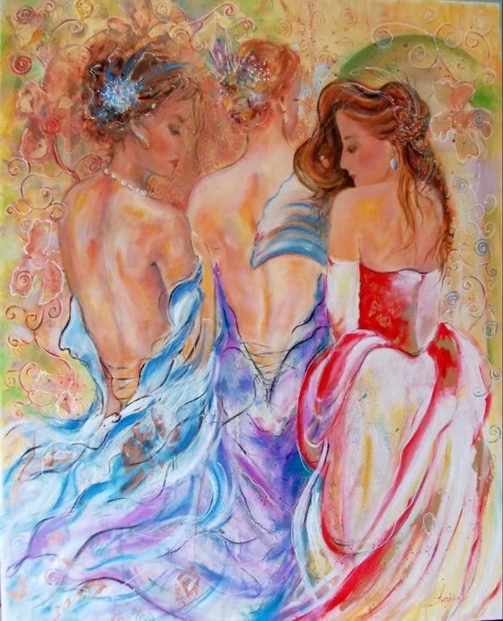 Image of Secret-  Original figurative Oil Painting