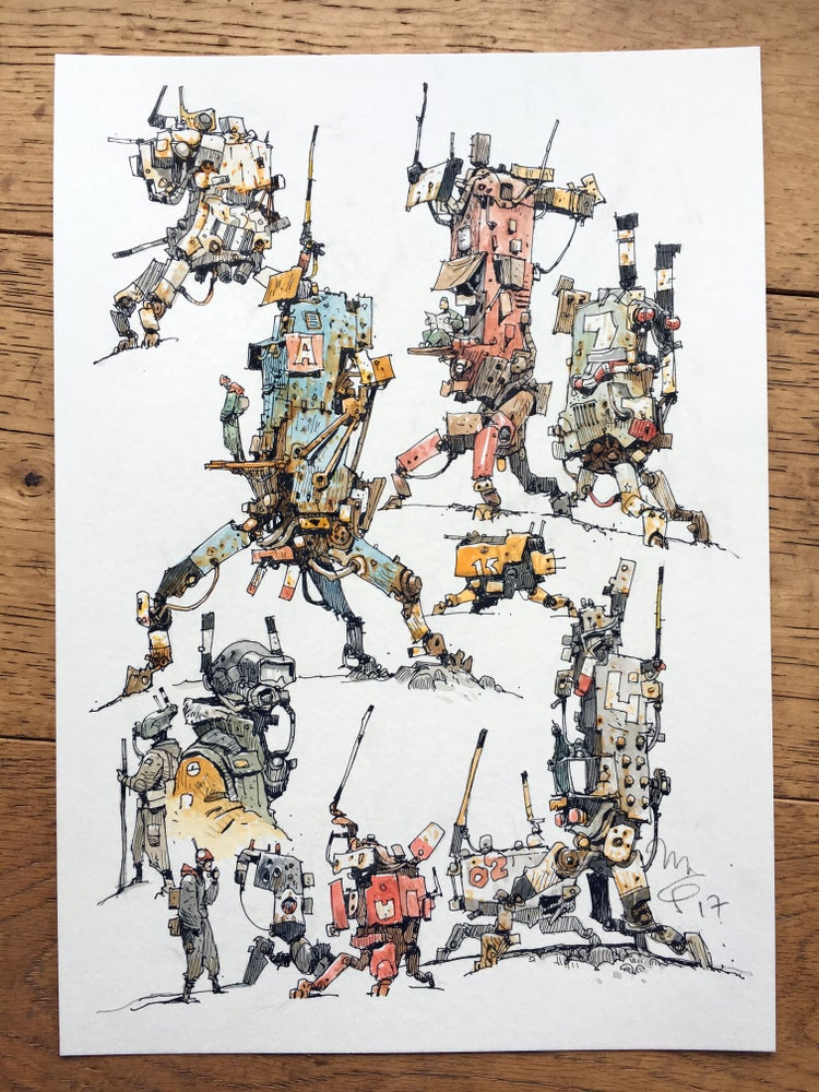 "Image of ""Tripods"" original artwork"