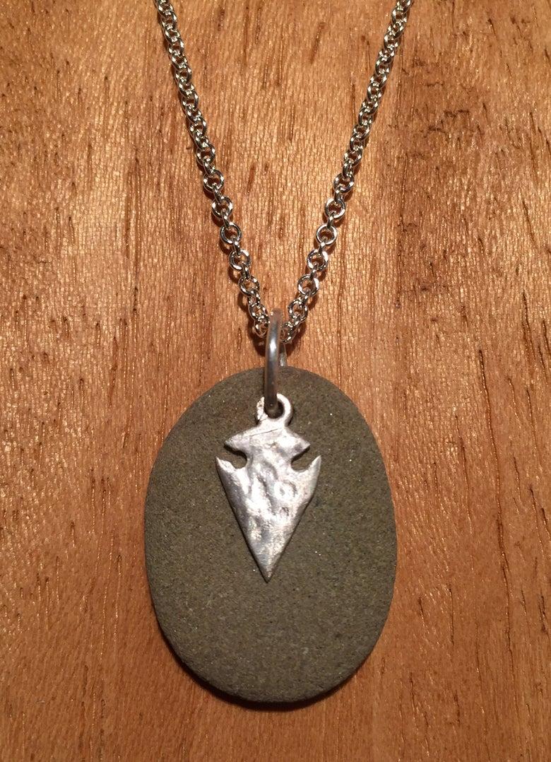 Image of Mini rock with arrow head pendant