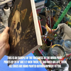 "Image of PLANKTONAUTS V ~ 12 X 12"" Limited Edition Print on Wood"