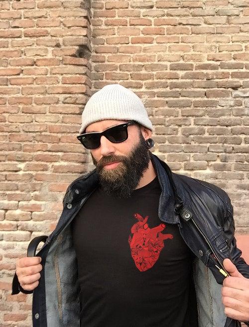 Image of Camiseta negra CORAZON WILD AT HEART