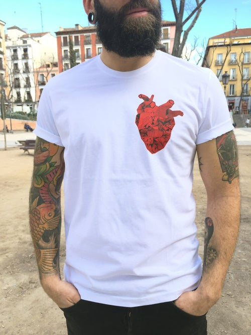 Image of Camiseta blanca CORAZON WILD AT HEART