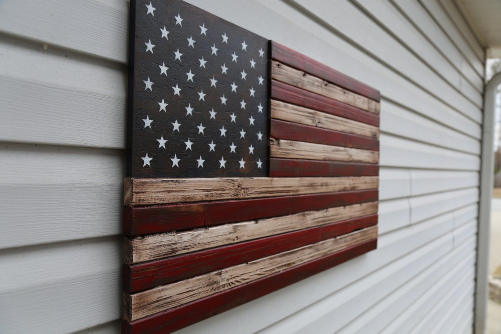 Image of Rustic American Flag