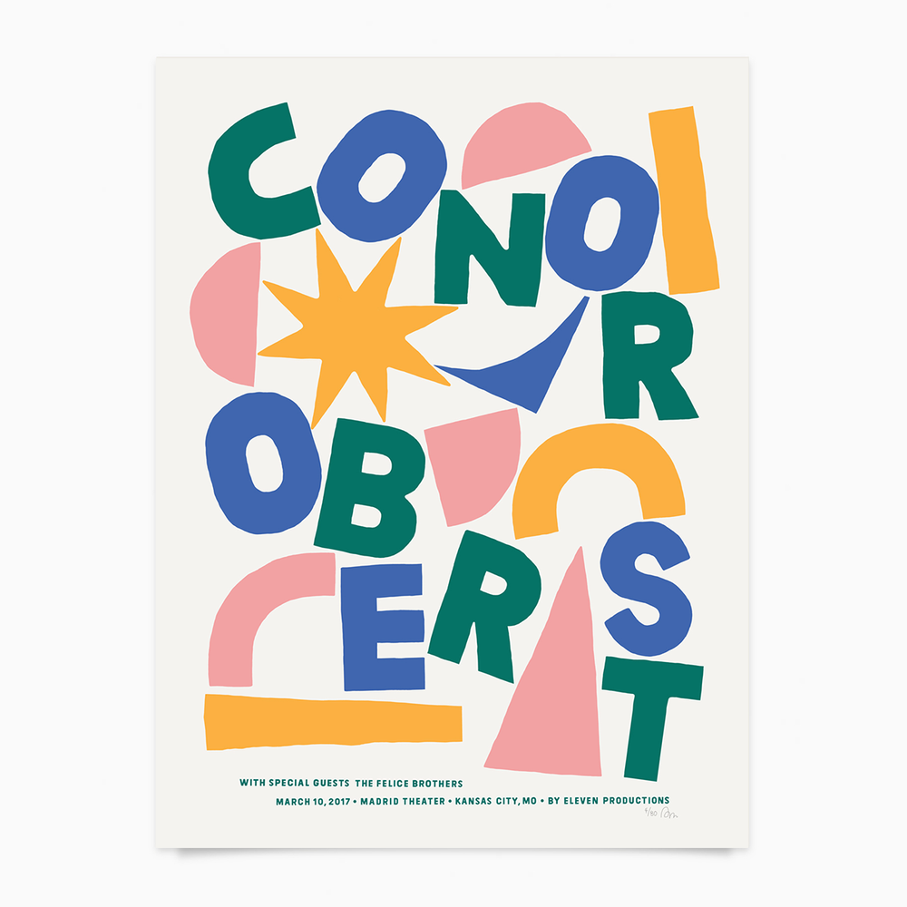Image of Conor Oberst Gigposter