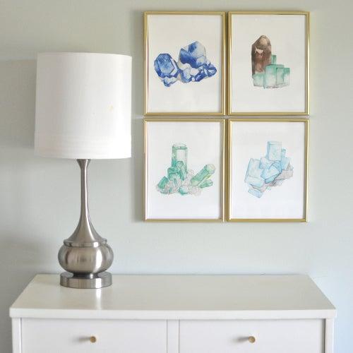Image of Vintau Blue Fluorite Watercolor Print