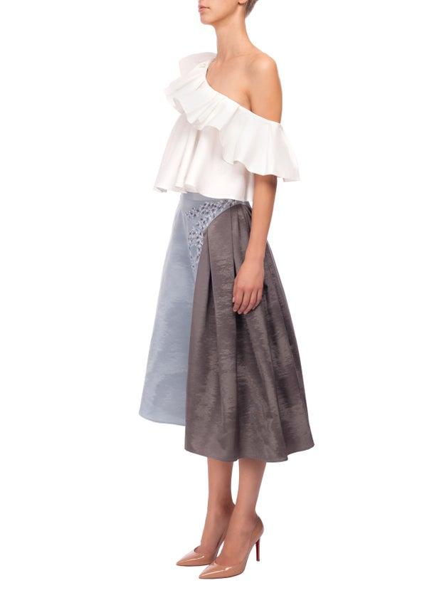Heather Skirt - Embroidered  - Melissa Bui