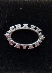 Image of CRAZY CAVAN CUT WORK PIN BADGE - END OF LINE