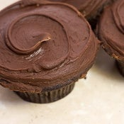 Image of seriously good chocolate cupcake