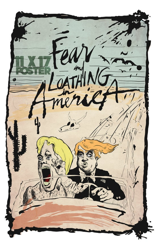Image of FEAR AND LOATHING 11 X 14 Poster