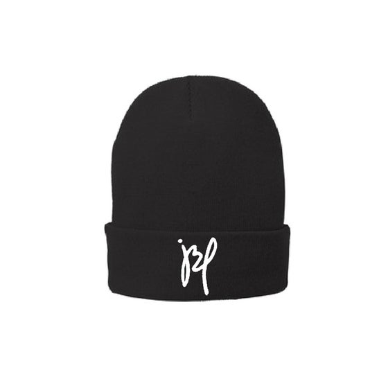 Image of 'JBP' Black Cuff Beanie (Fleece Inside)