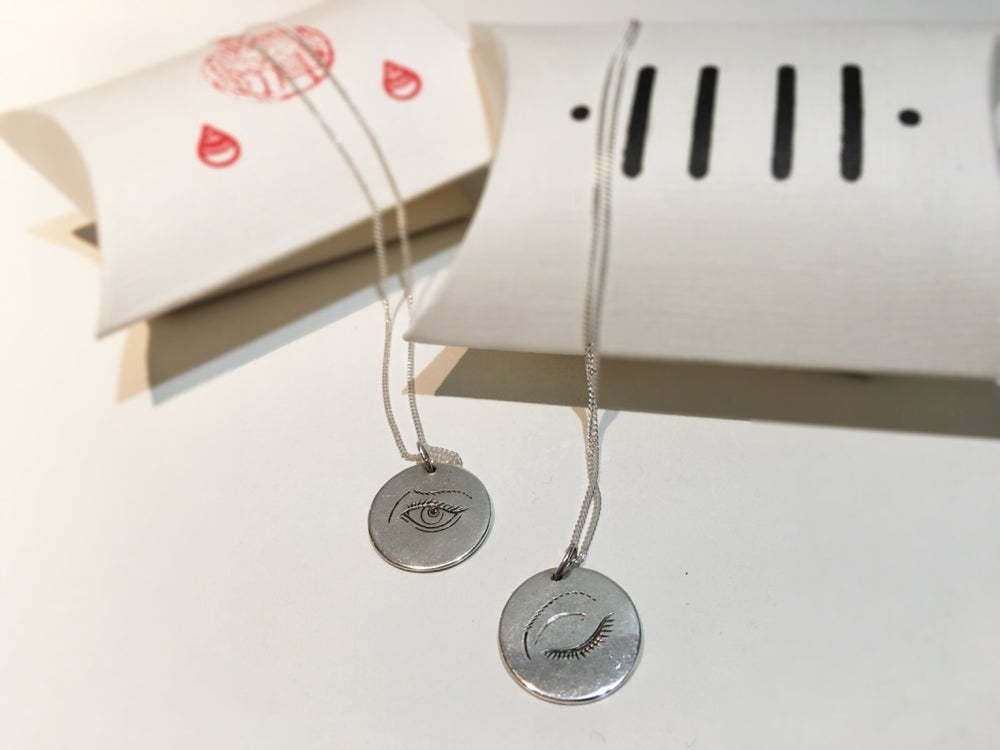 Image of 'See or not to see' pendant collaboration between Claudia De Sabe and Four Ones