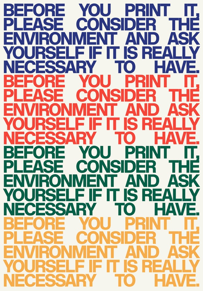Image of Think Before You Print