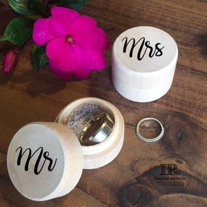 Image of Personalised Wedding Ring Boxes NZ