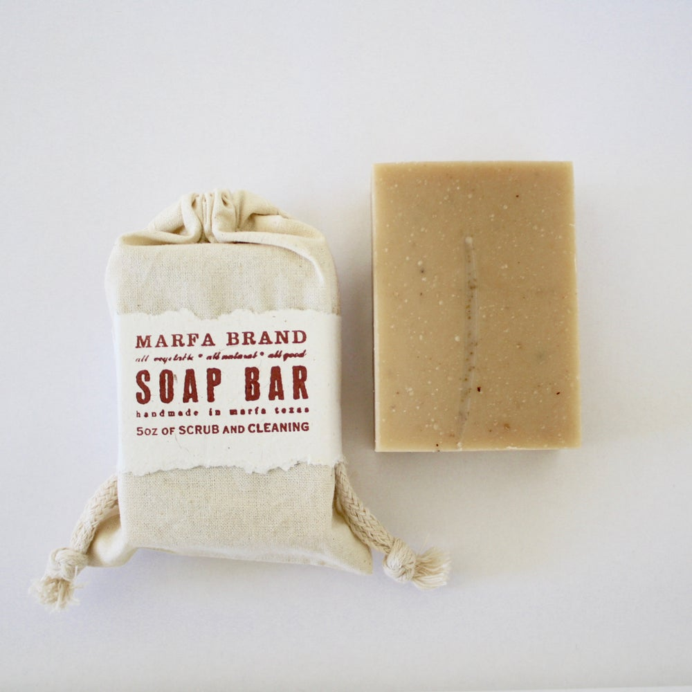 Image of Cedarwood Sage Goat Milk Soap with ground almond meal