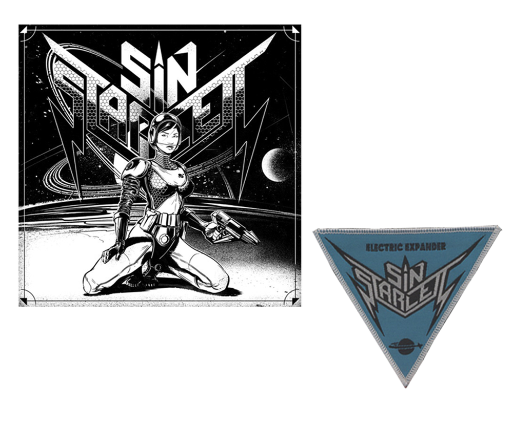 """Image of SIN STARLETT - Digital Overload / Electric Expander - 7"""" Vinyl 333 copies or with Patch 111 copies"""
