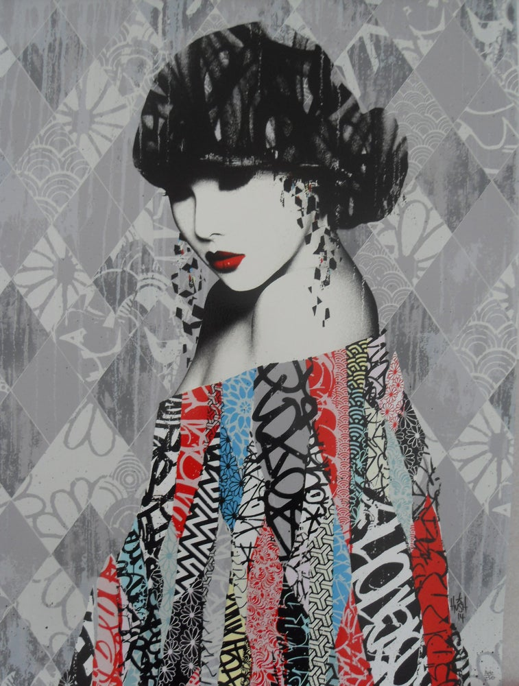 Image of HUSH - ROUGE II - 16 COLOUR SCREENPRINT - LTD ED 250 - 71CM X 51CM