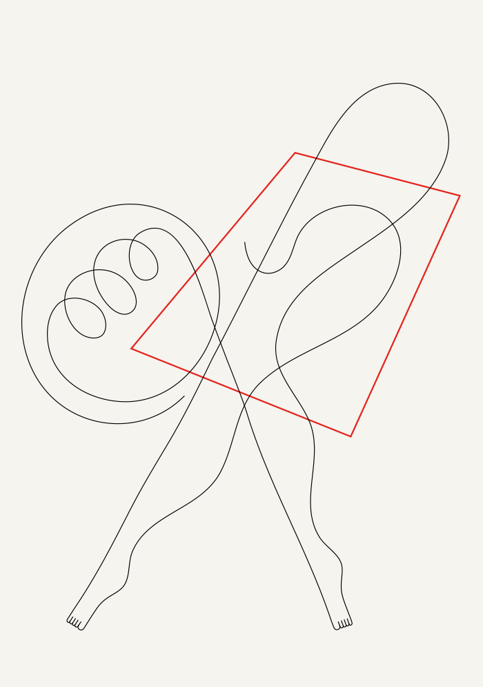 Image of Dancer and shape 1 - 30 x 42 cm