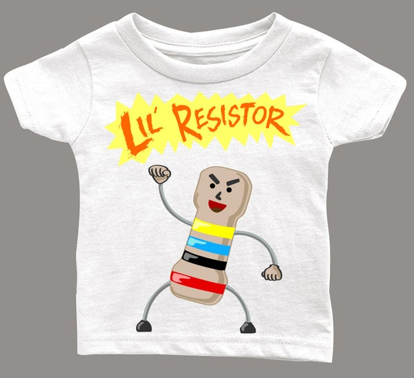 Image of Lil Resistor T-Shirt for kids going to March for Science.
