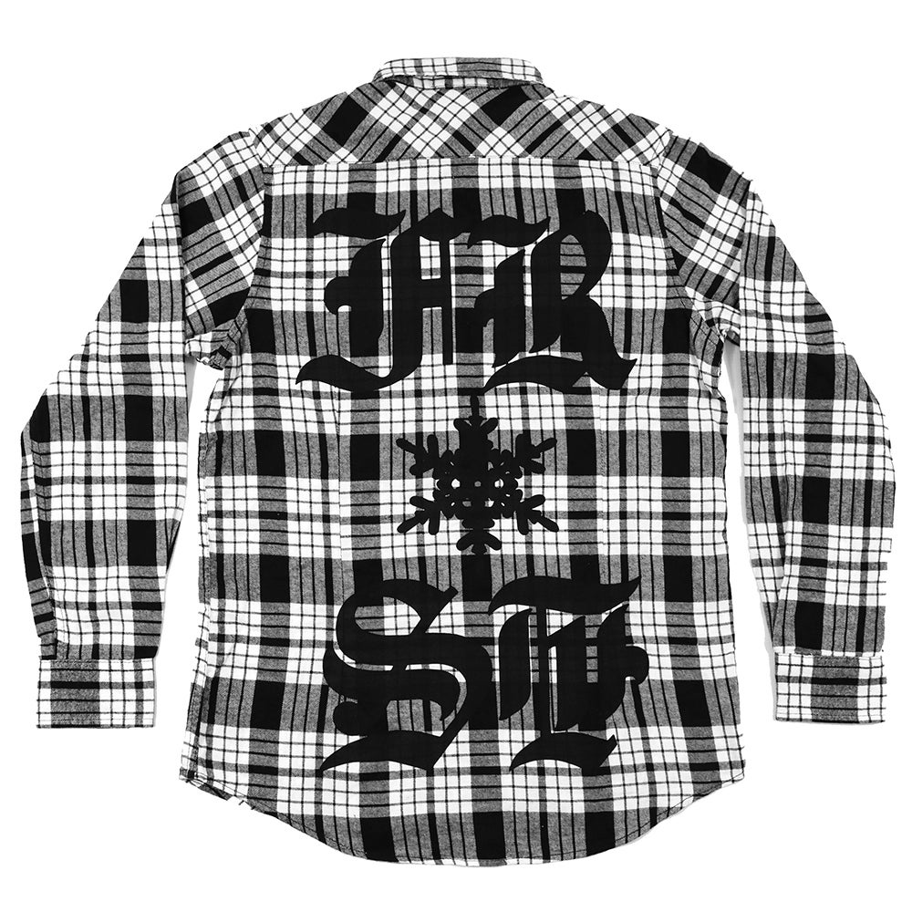Image of BACK PIECE CHECKERED SHIRT