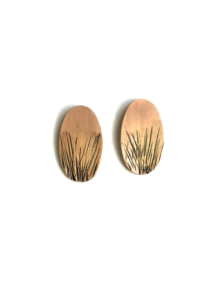 Image of Brass Stud Earrings
