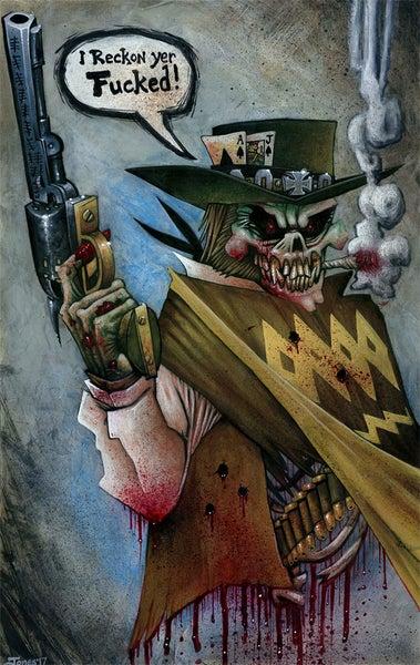 Image of 'Western Ghost Gunner' Original Painting
