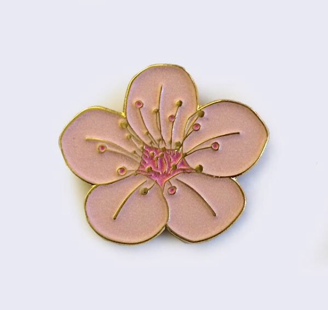 Image of Sakura Cherry Blossom Glow in the Dark Enamel Pin by Giant Robot