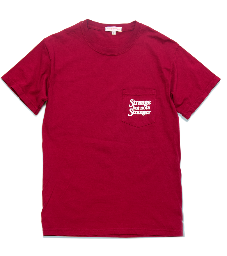 Image of Strange but not, Pocket T, Crimson