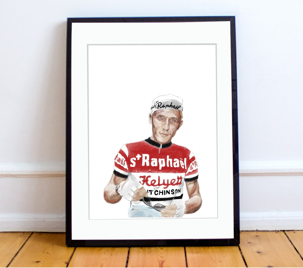 Image of Jacques Anquetil print A4 or A3 - By Jason Marson