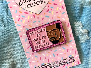 Image of Drake on Cake Enamel Pin