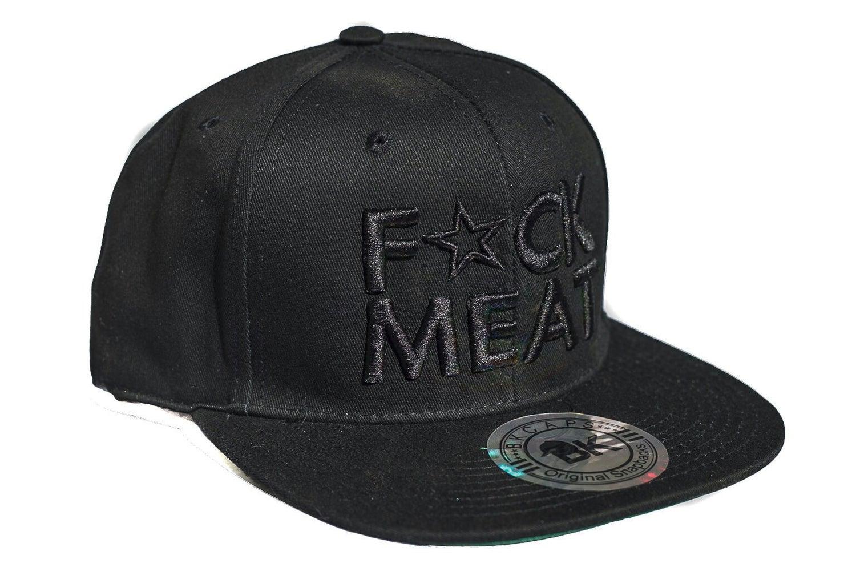 Image of F💥CK MEAT 3D BLACK on BLACK SNAPBACK HAT