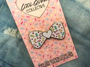 Image of Bow Sprinkles Glitter Enamel Pin