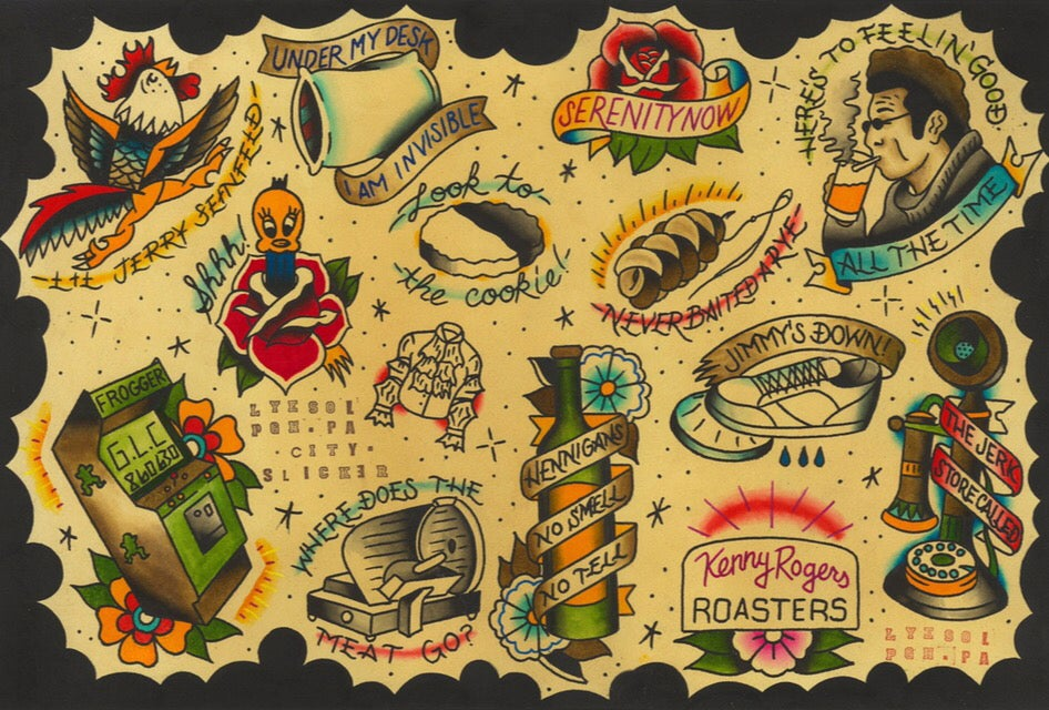 """Image of """"Can't Stand Ya #2"""" Seinfeld Flash Sheet by Lyesol"""