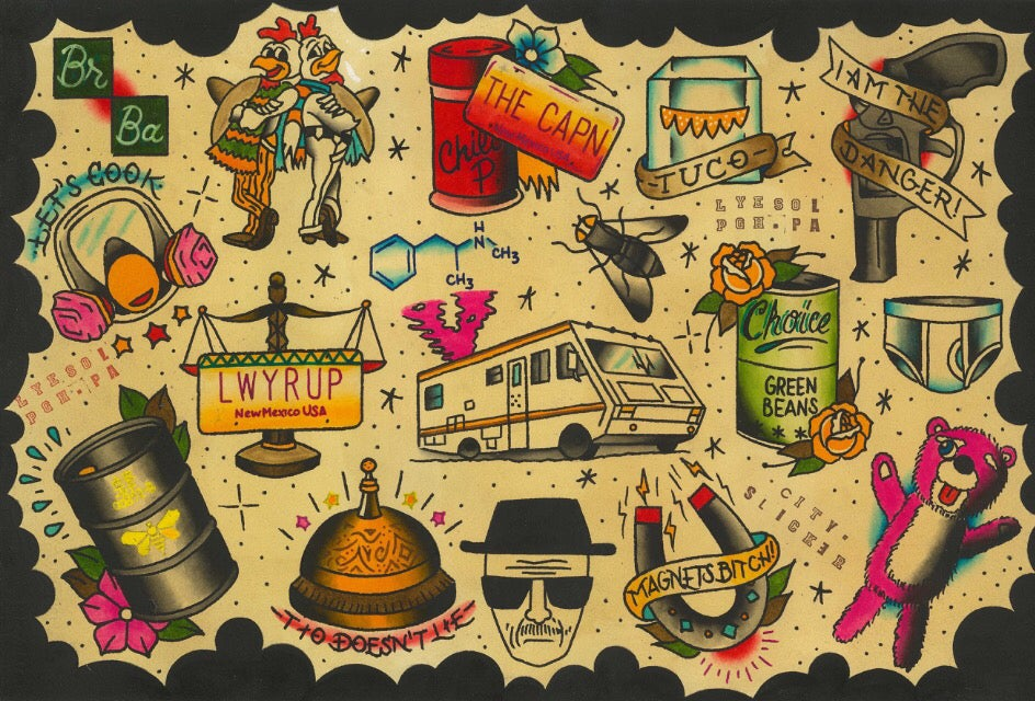 Image of Breaking Bad flash sheet by Lyesol