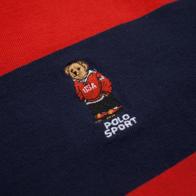 Image of Polo Bear Polo Sport Ralph Lauren Rugby Shirt XL Color Block