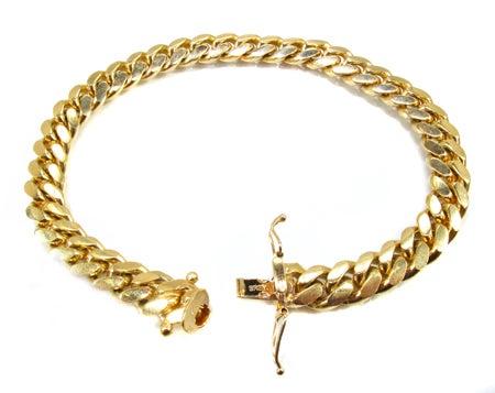 Image of 14k 8mm Cuban Link Bracelet