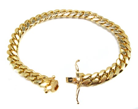 Image of 14k 8mm Cuban Link Bracelet