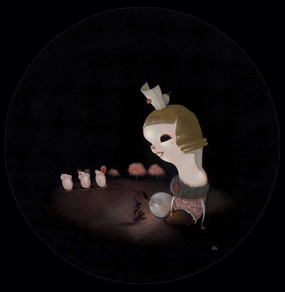 Image of Lola 'Lunar Lust for Conversation' original art