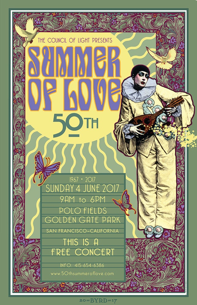 Image of 50th ANNIVERSARY of the SUMMER OF LOVE • JUNE 2017 • Version 2