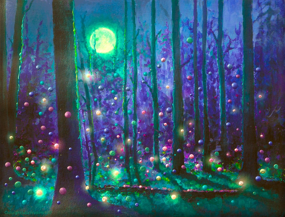 Image of Fairy Forest Magical Energy Painting - Gicleee Print